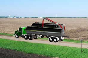 Semi-Tanker - NEW! The all new semi tanker from Balzer works in conjunction with the ELIMINATOR boom tank, vacuum or slurry tanks and frac tanks for direct injection for a complete, system approach to manure hauling.