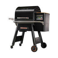 TIMBERLINE SERIES 850 PELLET GRILL - Timberline D2® Controller WiFIRE® Technology Timberline D2®Direct Drive TurboTemp® GrillGuide® Three tiers of stainless steel grates Double-wall stainless steel interior Pellet Sensor Magnetic Bamboo Cutting Board Concealed Grease Management System