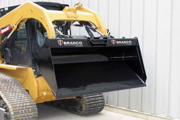 Paladin Attachments Low-Profile Dirt Bucket for sale at Kings River Tractor Inc.