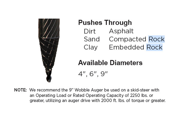Danuser | Auger Bits | Model Wobble Industrial Auger for sale at Kings River Tractor Inc.